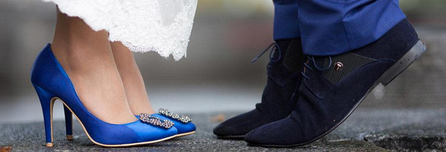 chaussures pour un mariage